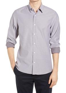 Nordstrom Men's Shop Tech-Smart Trim Fit Dobby Button-Up Shirt