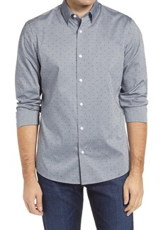 Nordstrom Men's Shop Tech-Smart Trim Fit Dot Dobby Dress Shirt