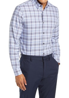 Nordstrom Men's Shop Tech-Smart Trim Fit Plaid Button-Up Shirt