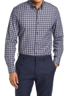 Nordstrom Men's Shop Tech-Smart Trim Fit Plaid Button-Up Shirt