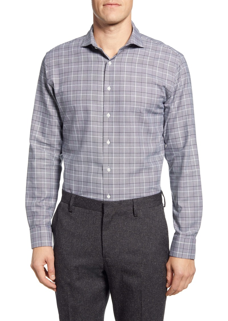Nordstrom Men's Shop Tech-Smart Trim Fit Plaid Dress Shirt