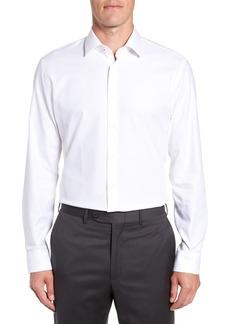 Nordstrom Tech-Smart Trim Fit Stretch Herringbone Dress Shirt