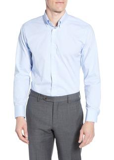 Nordstrom Men's Shop Tech-Smart Trim Fit Stretch Pinpoint Dress Shirt