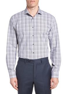 Nordstrom Men's Shop Tech-Smart Trim Fit Stretch Plaid Dress Shirt