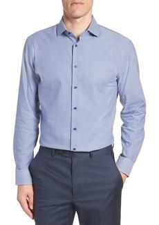 Nordstrom Men's Shop Tech-Smart Trim Fit Stretch Texture Dress Shirt