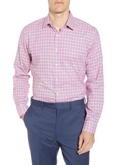Nordstrom Men's Shop Tech-Smart Trim Fit Stretch Windowpane Dress Shirt