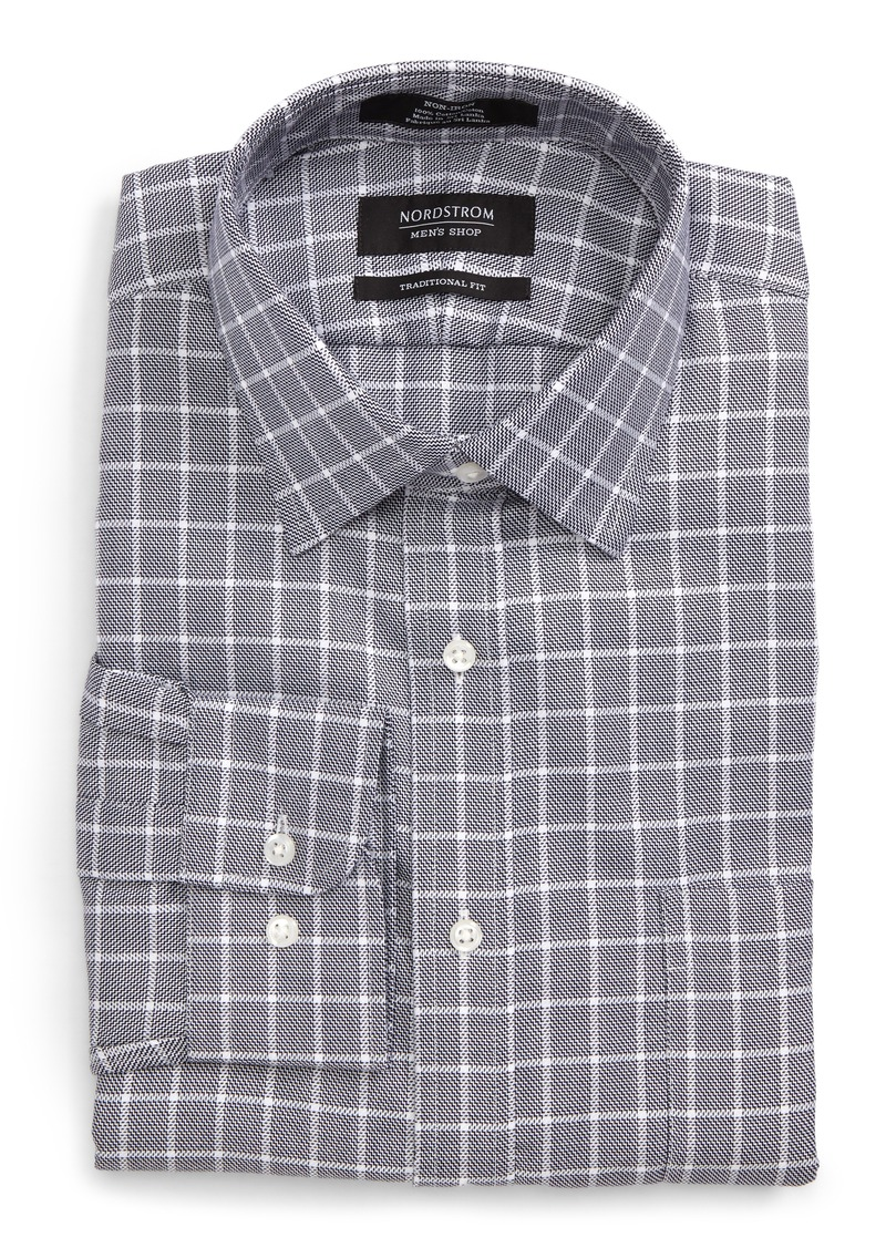 Nordstrom nordstrom men 39 s shop traditional fit no iron Mens no iron dress shirts
