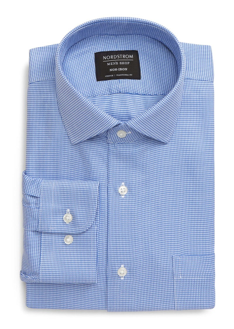 Nordstrom Men's Shop Traditional Fit Non-Iron Houndstooth Dress Shirt