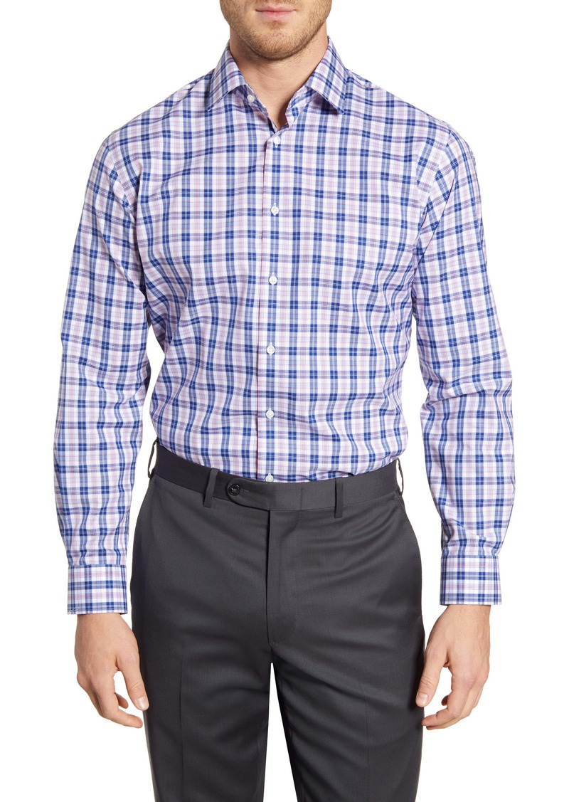Nordstrom Men's Shop Traditional Fit Non-Iron Plaid Dress Shirt