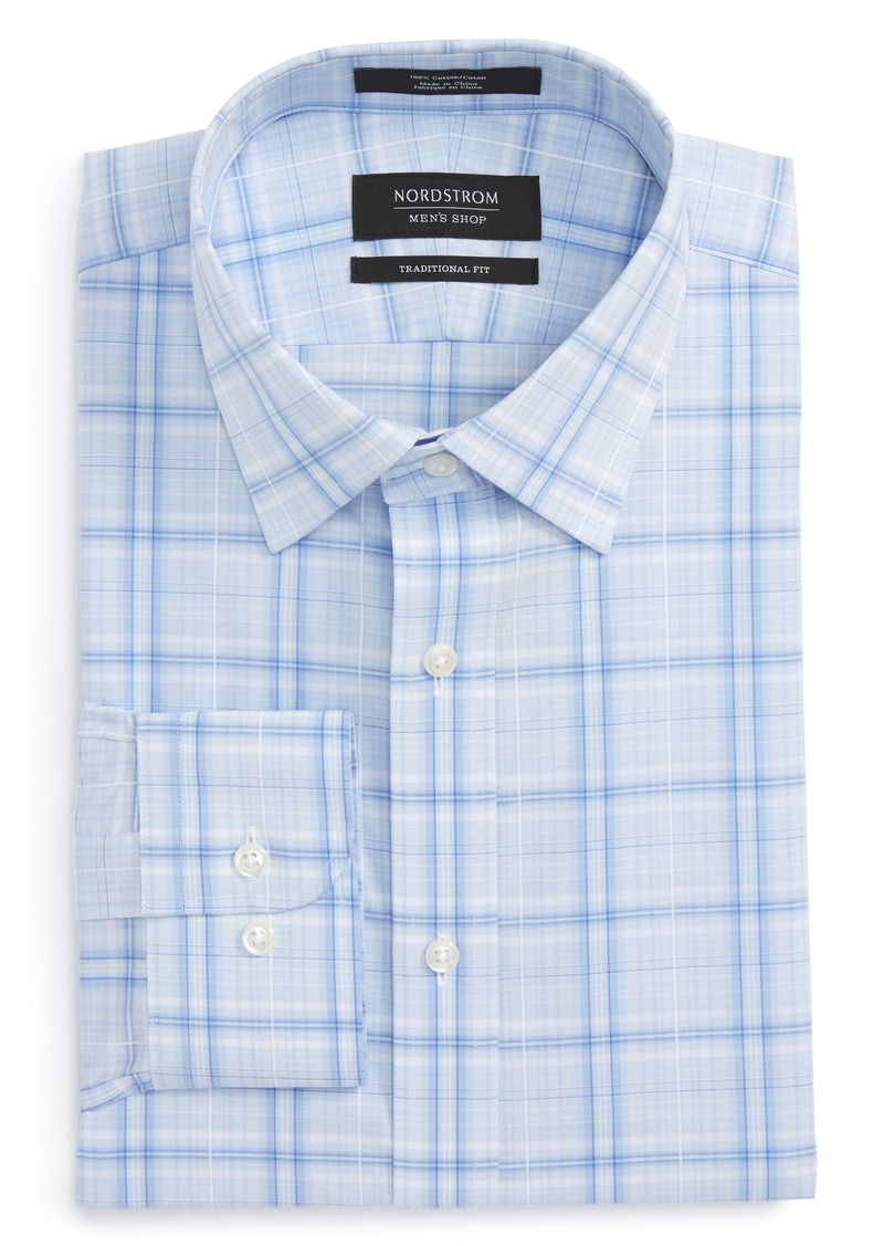 Nordstrom Nordstrom Mens Shop Traditional Fit Plaid Dress Shirt Now