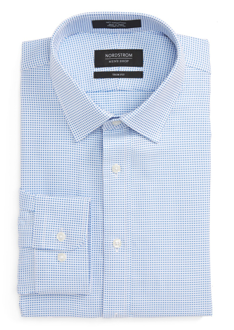 Nordstrom Nordstrom Menu0026#39;s Shop Trim Fit Check Dress Shirt