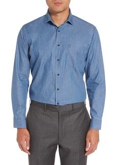 Nordstrom Men's Shop Trim Fit Denim Shirt