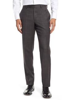Nordstrom Men's Shop Trim Fit Flat Front Wool Trousers
