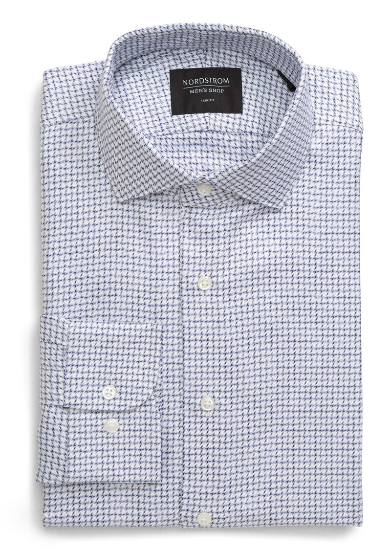 Nordstrom Men's Shop Trim Fit Houndstooth Dress Shirt