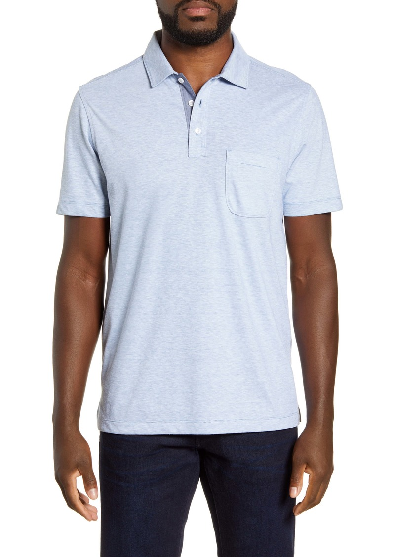 Nordstrom Men's Shop Trim Fit Linen Blend Pocket Polo
