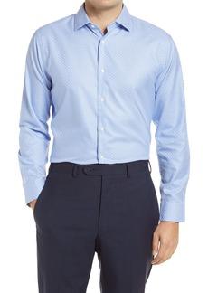 Nordstrom Trim Fit Non-Iron Basketweave Dress Shirt