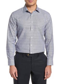 Nordstrom Men's Shop Trim Fit Non-Iron Check Dress Shirt
