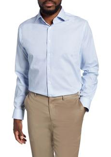 Nordstrom Men's Shop Trim Fit Non-Iron Dot Dress Shirt