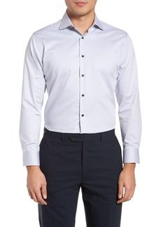 Nordstrom Men's Shop Trim Fit Non-Iron Herringbone Dress Shirt