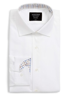 Nordstrom Men's Shop Trim Fit Non-Iron Herringbone Dress Shirt