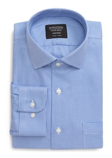Nordstrom Men's Shop Trim Fit Non-Iron Houndstooth Dress Shirt