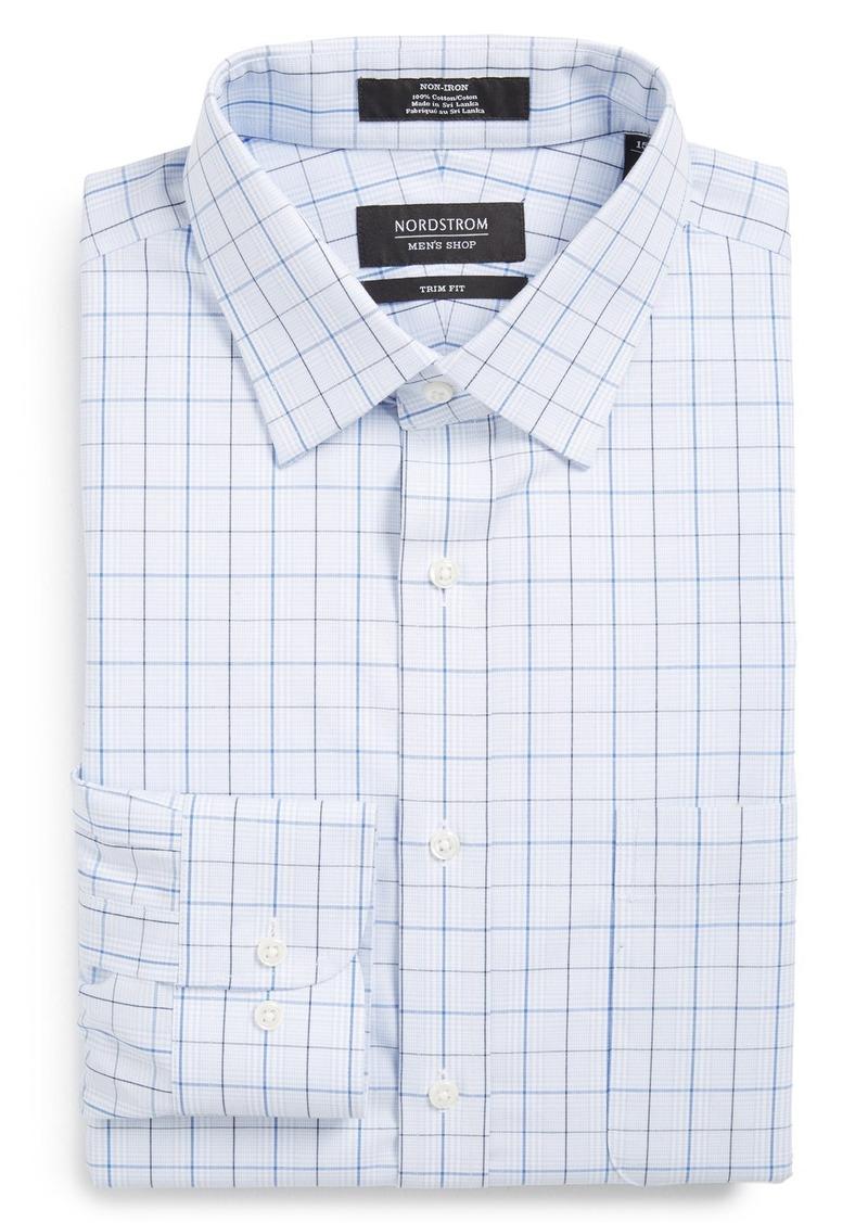 Nordstrom Men's Shop Trim Fit Non-Iron Plaid Dress Shirt