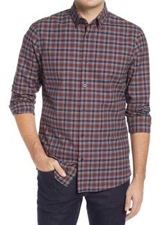 Nordstrom Trim Fit Plaid Button-Up Shirt