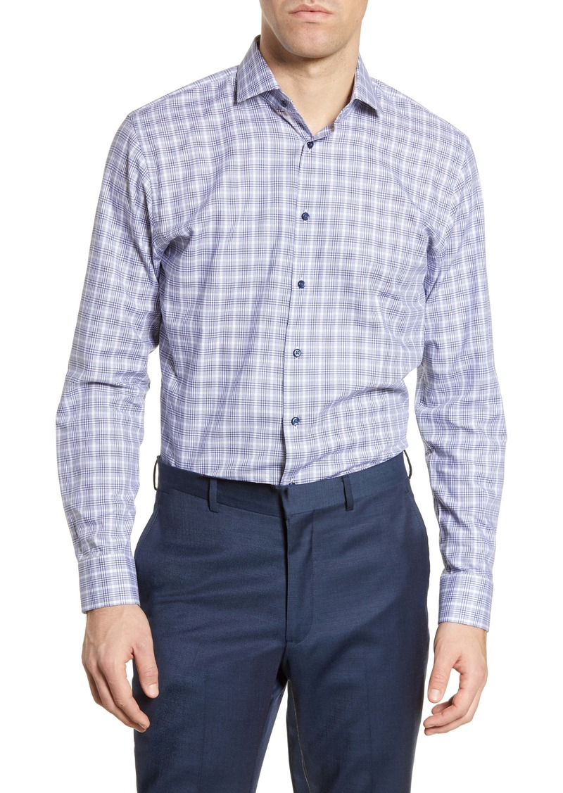 Nordstrom Men's Shop Trim Fit Plaid Dress Shirt
