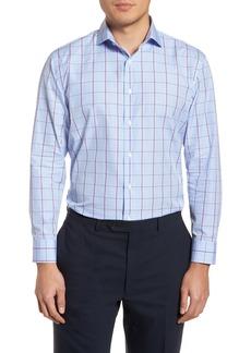 Nordstrom Men's Shop Trim Fit Plaid Dress Shirt