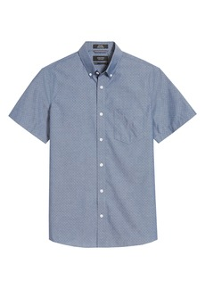 Nordstrom Men's Shop Trim Fit Short Sleeve Non-Iron Button-Up Shirt