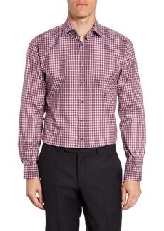 Nordstrom Men's Shop Trim Fit Stretch Non-Iron Check Dress Shirt