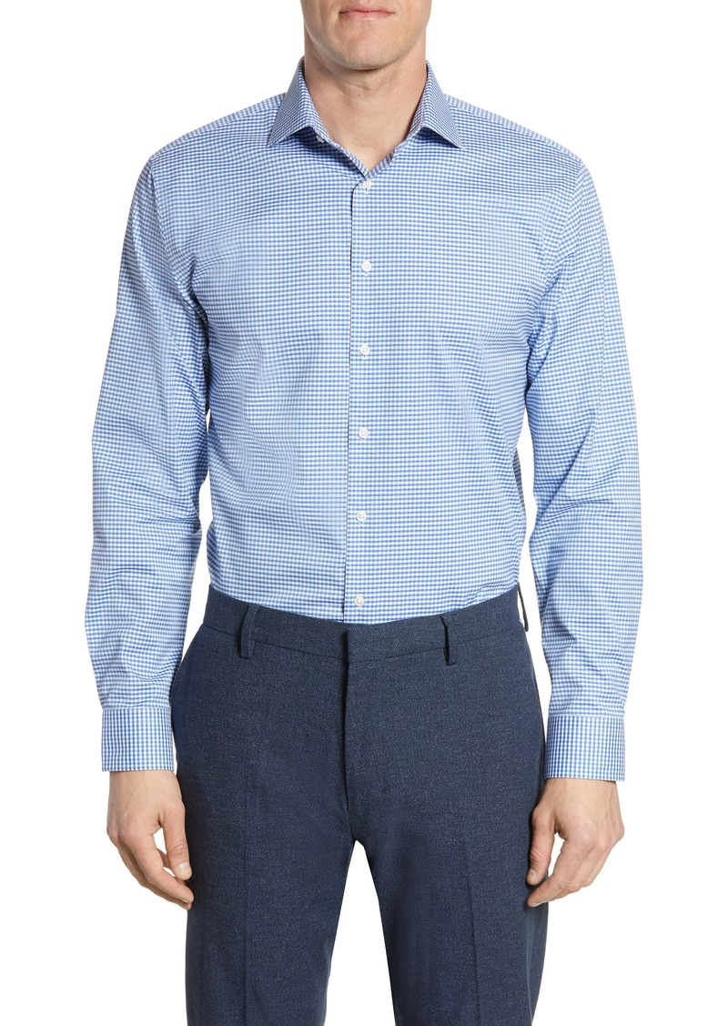 Nordstrom Men's Shop Trim Fit Stretch Non-Iron Check Dress Shirt