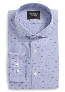 Nordstrom Men's Shop Trim Fit Stripe Fil Coupé Dress Shirt