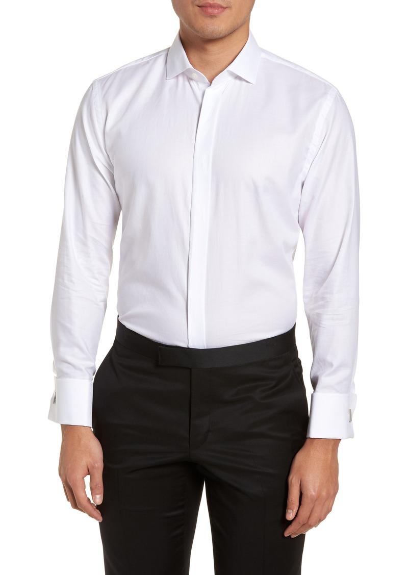 Sale nordstrom nordstrom men 39 s shop trim fit tuxedo shirt for Trim fit tuxedo shirt