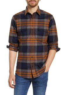 Nordstrom Men's Shop Trucker Regular Fit Plaid Flannel Button-Up Shirt