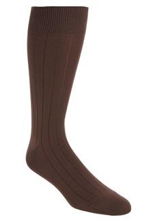 Nordstrom Men's Shop Ultra Soft Solid Ribbed Socks (3 for $30)
