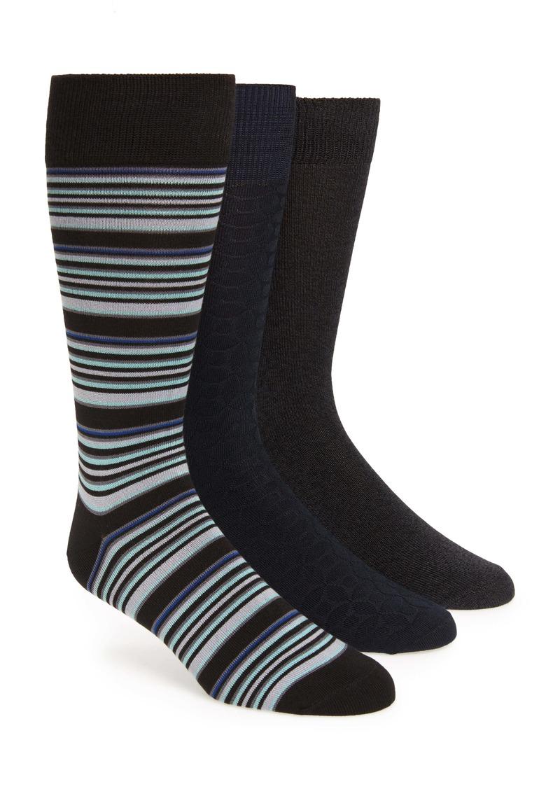 Nordstrom Men's Shop Ultrasoft Assorted 3-Pack Socks