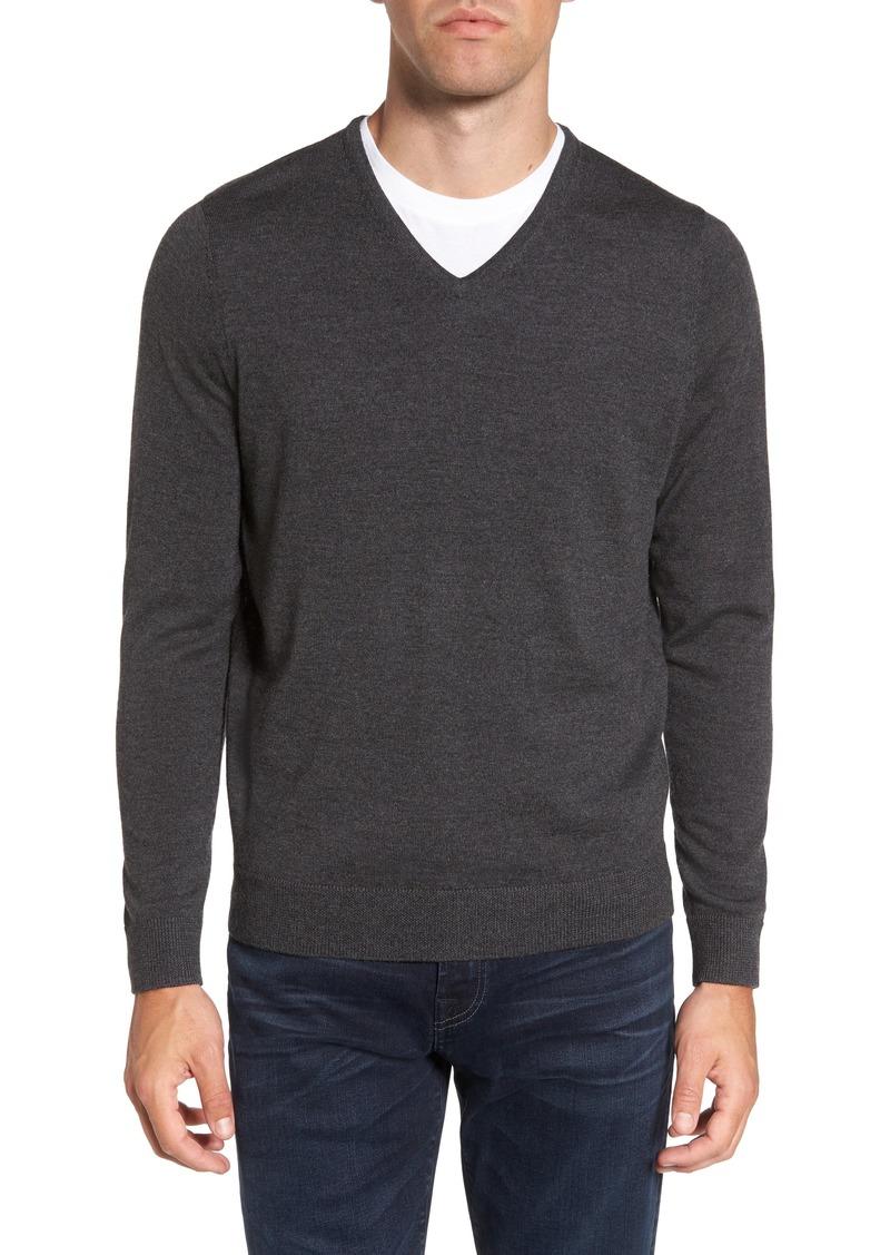 Men's Shop V-Neck Merino Wool Sweater (Regular & Tall)