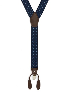 Nordstrom Men's Shop Woven Dot Suspenders