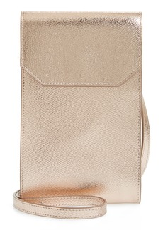 Nordstrom Metallic Leather Phone Crossbody Bag