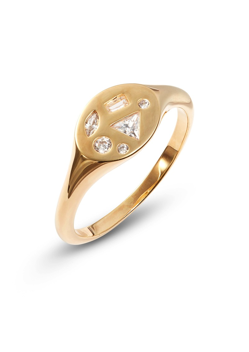 Nordstrom Mixed Cubic Zirconia Signet Ring