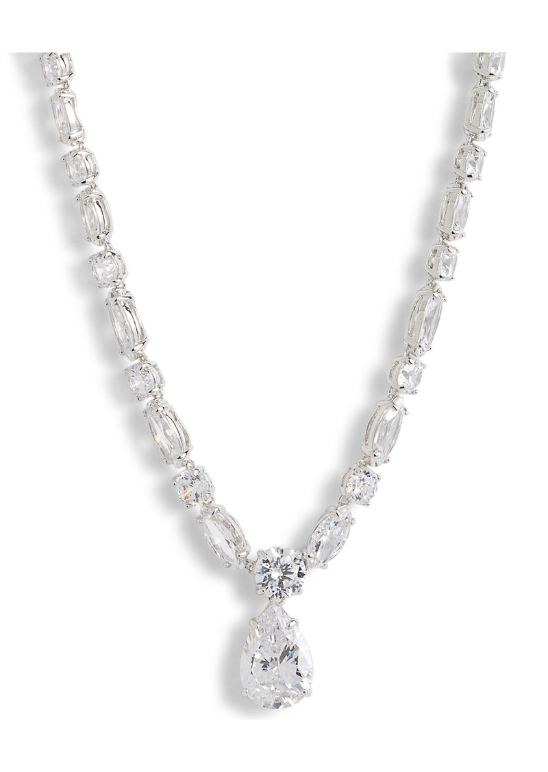 Nordstrom Mixed Cut Cubic Zirconia Riviera Necklace