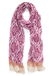Nordstrom Mixed Print Silk Scarf