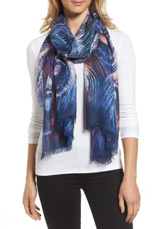 Nordstrom Modern Peacock Silk & Cashmere Scarf