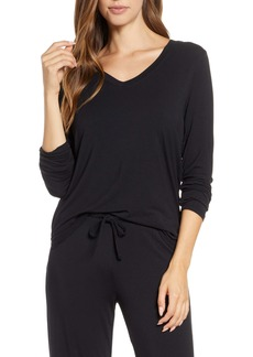 Nordstrom Moonlight V-Neck Long Sleeve Pajama Top