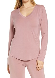 Nordstrom Moonlight V-Neck Long Sleeve Pajama Top
