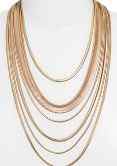 Nordstrom Multistrand Snake Chain Necklace