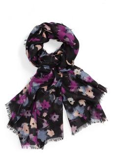 Nordstrom Mystic Floral Cashmere & Silk Scarf