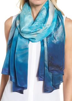 Nordstrom Ocean Ombré Silk Wrap
