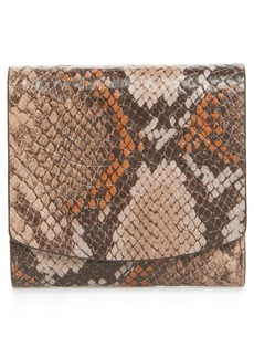 Nordstrom Olivia Python Print Leather Trifold Wallet